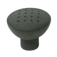 KBL33 33mm DIA. Black Dimple Metal Knobs