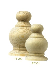 PFV02   85 mm Diameter Victorian Pine Finial for 100mm post