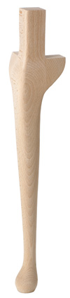 QT24 Queen Anne Leg with top square 725 mm overall height PRICED PER LEG