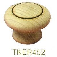 TKER452 Embossed Ring Beech Knobs 45mm Dia
